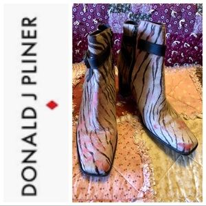 Donald J. Pliner calf hair ankle boots GORGEOUS!